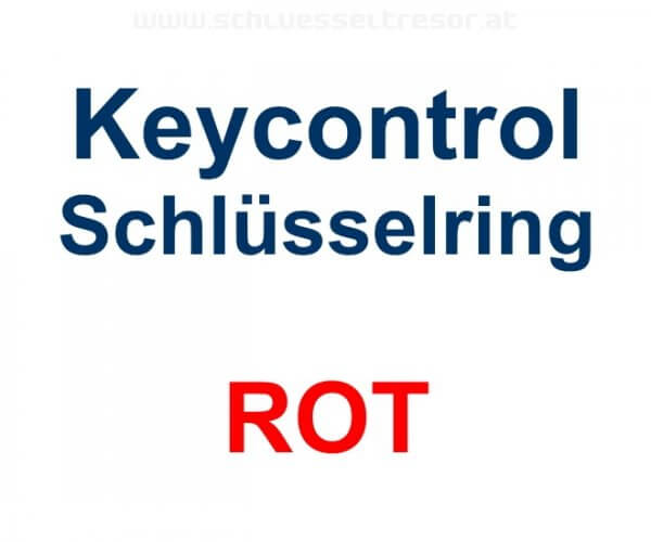 Keycontrol Schlüssel-Ring ROT