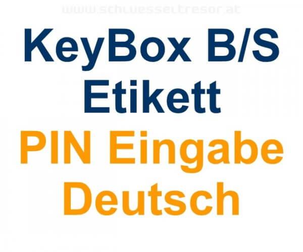 Etikett PIN Eingabe Deutsch