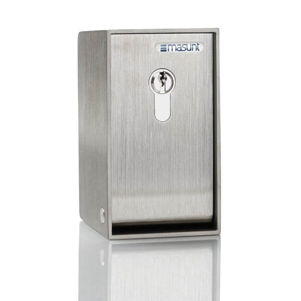 Schlüsseldepot Edelstahl V2A mit Profilzylinder