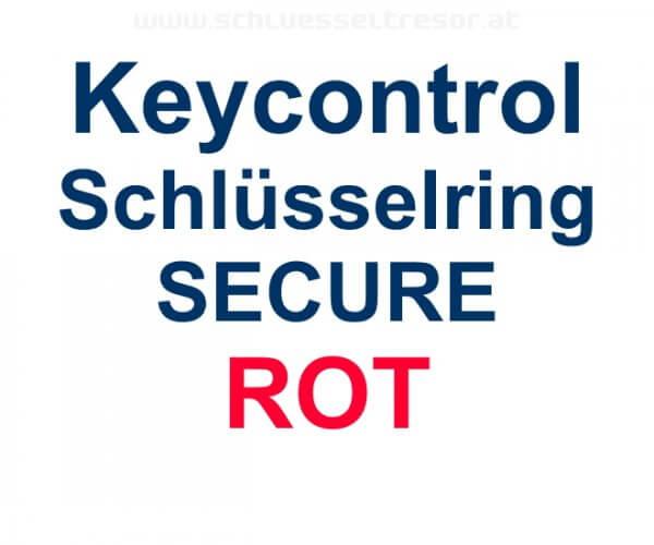 Keycontrol Schlüssel-Ring ROT SECURE