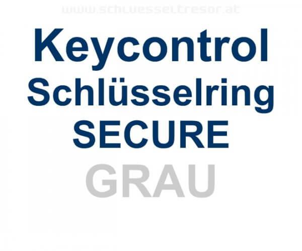 Keycontrol Schlüssel-Ring GRAU SECURE