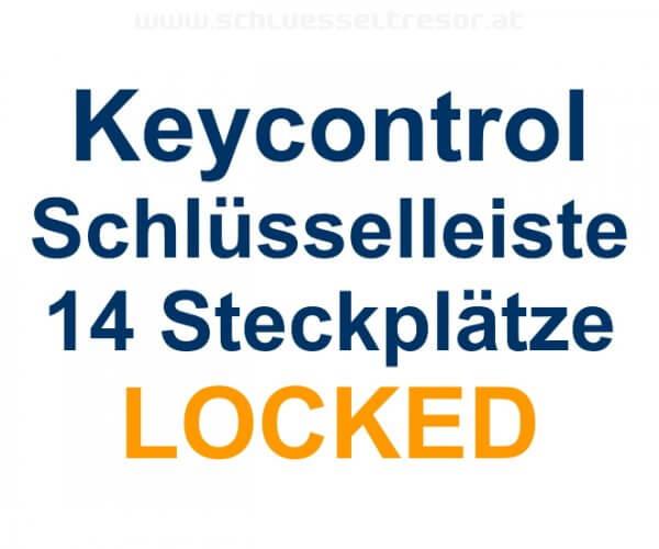 Keycontrol Schlüssel-Steckleiste 14 Plätze LOCKED